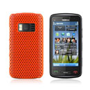 Coque Nokia C6-01 Filet Plastique Etui Rigide - Orange