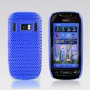 Coque Nokia C7 Filet Plastique Etui Rigide - Bleu