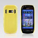 Coque Nokia C7 Filet Plastique Etui Rigide - Jaune