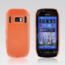 Coque Nokia C7 Filet Plastique Etui Rigide - Orange