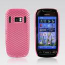 Coque Nokia C7 Filet Plastique Etui Rigide - Rose