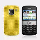 Coque Nokia E5 Filet Plastique Etui Rigide - Jaune
