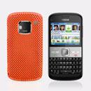 Coque Nokia E5 Filet Plastique Etui Rigide - Orange