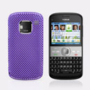 Coque Nokia E5 Filet Plastique Etui Rigide - Pourpre