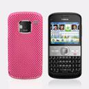 Coque Nokia E5 Filet Plastique Etui Rigide - Rose Chaud