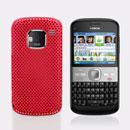 Coque Nokia E5 Filet Plastique Etui Rigide - Rouge
