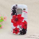 Coque Nokia E5 Fleurs Silicone Housse Gel - Rouge