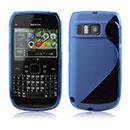 Coque Nokia E6 S-Line Silicone Gel Housse - Bleu