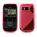 Coque Nokia E6 S-Line Silicone Gel Housse - Rouge