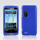 Coque Nokia E7 Filet Plastique Etui Rigide - Bleu