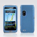 Coque Nokia E7 Filet Plastique Etui Rigide - Bleue Ciel