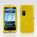 Coque Nokia E7 Filet Plastique Etui Rigide - Jaune