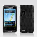 Coque Nokia E7 Filet Plastique Etui Rigide - Noire