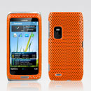 Coque Nokia E7 Filet Plastique Etui Rigide - Orange