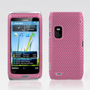 Coque Nokia E7 Filet Plastique Etui Rigide - Rose