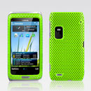 Coque Nokia E7 Filet Plastique Etui Rigide - Verte