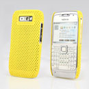Coque Nokia E71 Filet Plastique Etui Rigide - Jaune