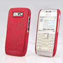 Coque Nokia E71 Filet Plastique Etui Rigide - Rouge