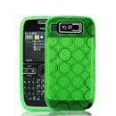 Coque Nokia E72 Cercle Gel TPU Housse - Verte