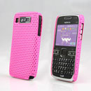 Coque Nokia E72 Filet Plastique Etui Rigide - Rose Chaud