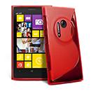 Coque Nokia Lumia 1020 S-Line Silicone Gel Housse - Rouge