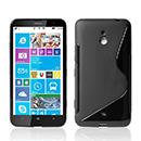 Coque Nokia Lumia 1320 S-Line Silicone Gel Housse - Noire