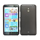 Coque Nokia Lumia 1320 Silicone Transparent Housse - Noire