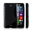 Coque Nokia Lumia 430 S-Line Silicone Gel Housse - Noire