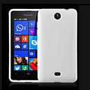 Coque Nokia Lumia 430 Silicone Gel Housse - Blanche