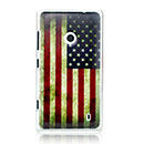 Coque Nokia Lumia 520 Le drapeau des Etats-Unis Etui Cover - Mixtes