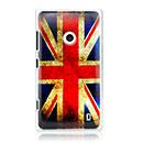 Coque Nokia Lumia 520 Le drapeau du Royaume-Uni Etui Rigide - Mixtes