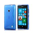 Coque Nokia Lumia 520 S-Line Silicone Gel Housse - Bleu