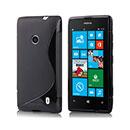 Coque Nokia Lumia 520 S-Line Silicone Gel Housse - Noire