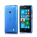 Coque Nokia Lumia 525 S-Line Silicone Gel Housse - Bleu