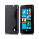 Coque Nokia Lumia 525 S-Line Silicone Gel Housse - Noire