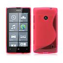Coque Nokia Lumia 525 S-Line Silicone Gel Housse - Rose Chaud