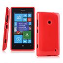 Coque Nokia Lumia 525 Silicone Gel Housse - Rouge