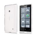 Coque Nokia Lumia 525 Silicone Transparent Housse - Blanche