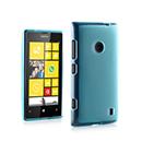 Coque Nokia Lumia 525 Silicone Transparent Housse - Bleu