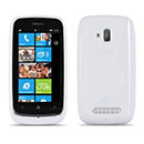 Coque Nokia Lumia 610 S-Line Silicone Gel Housse - Blanche