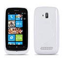 Coque Nokia Lumia 610 S-Line Silicone Gel Housse - Blanche