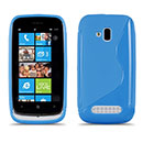 Coque Nokia Lumia 610 S-Line Silicone Gel Housse - Bleue Ciel