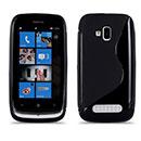 Coque Nokia Lumia 610 S-Line Silicone Gel Housse - Noire
