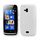 Coque Nokia Lumia 610 Silicone Gel Housse - Blanche