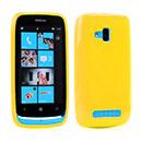 Coque Nokia Lumia 610 Silicone Gel Housse - Jaune