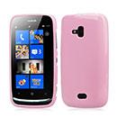 Coque Nokia Lumia 610 Silicone Gel Housse - Rose