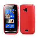 Coque Nokia Lumia 610 Silicone Gel Housse - Rouge