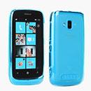 Coque Nokia Lumia 610 Silicone Transparent Housse - Bleu