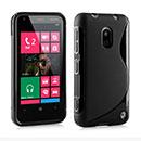 Coque Nokia Lumia 620 S-Line Silicone Gel Housse - Noire