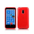 Coque Nokia Lumia 620 Silicone Gel Housse - Rouge